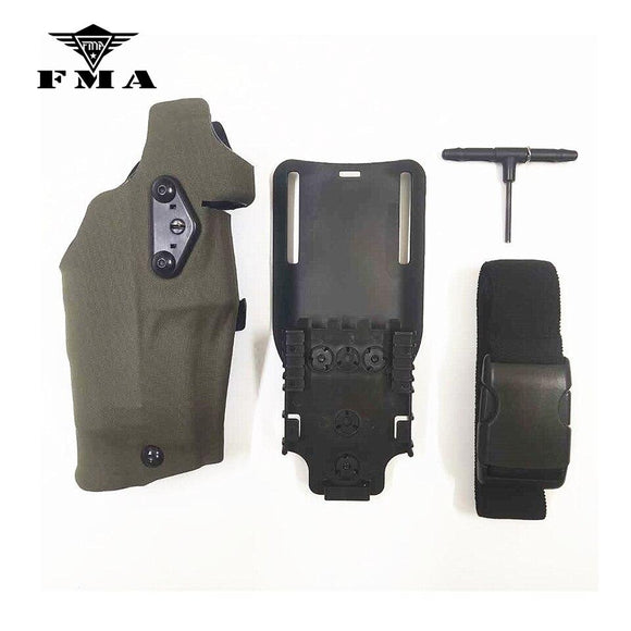 FMA Tactical Holster Multicam X300 Light-Compatible & QL Mount Holster for Glock17/18/19