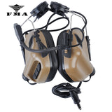 EARMOR Tactical Headset & RAC Rail Adapter Set Noise Canceling Military Aviation Communication
