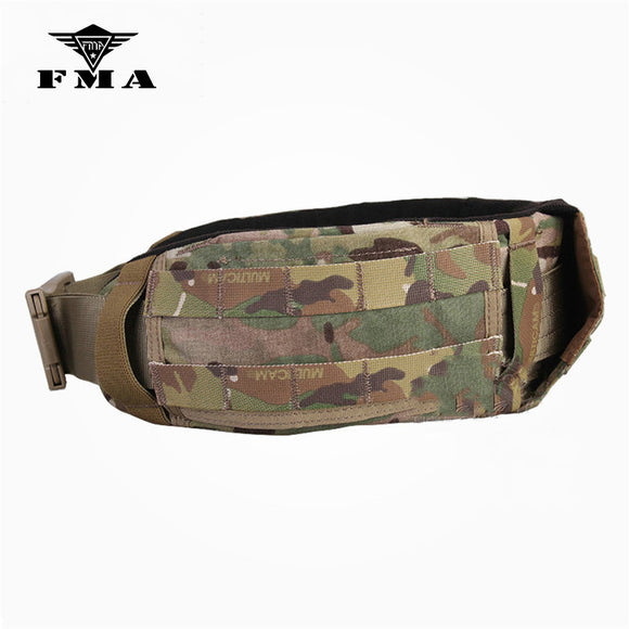 FMA Waist Support Tactical Waist Belt AVS Low Profile Molle Multicam for Airsoft Military Wargame