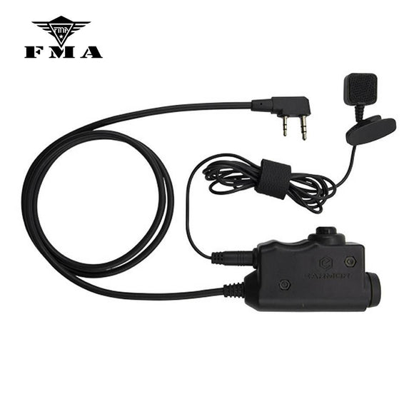 EARMOR Tactical Headset PTT Kenwood Military Adapter PTT  for Airsoft MSA Sordin/3M Peltor