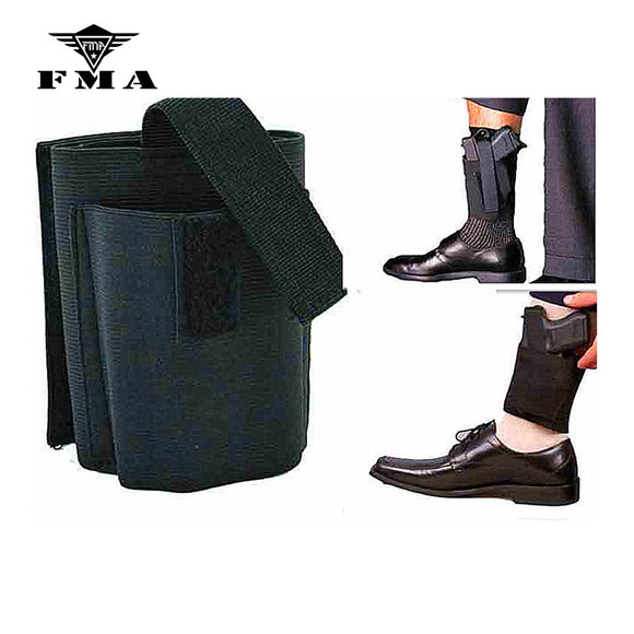 FMA Universal Ankle Holster with Retention Hook&Loop Strap Concealed