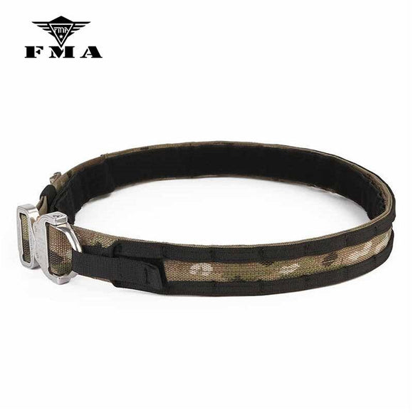 FMA Tactical belt D-Ring Buckle Cobra1.75-2inch One-pcs Combat Belt Nylon Hunting Accessories