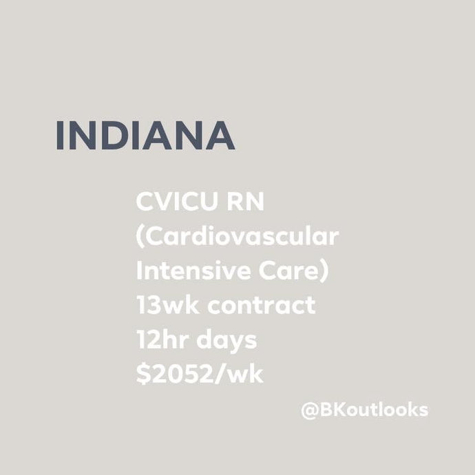 Indiana - Travel Nurse (CVICU, Cardiovascular ICU)