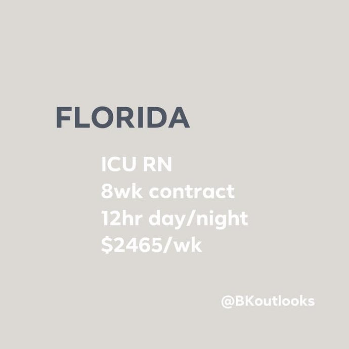 Florida - Travel Nurse (ICU, Intensive Care Unit RN)