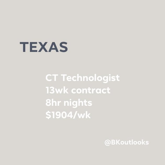 Texas - Travel CT Technologist