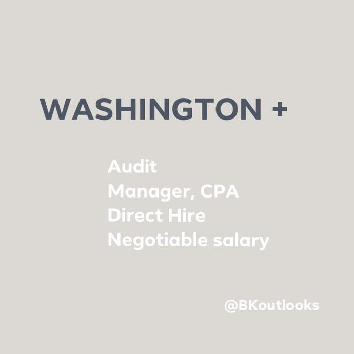 Washington - Direct Hire (Audit Manager, CPA)