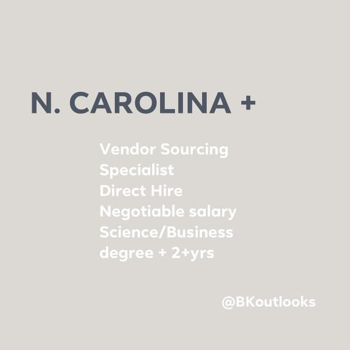 North Carolina - Direct Hire (Vendor Sourcing Specialist)