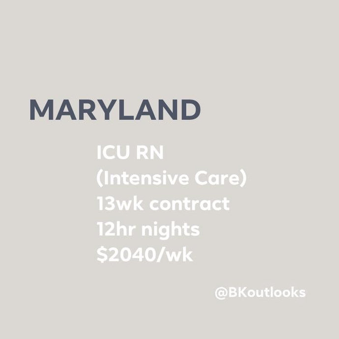 Maryland - Travel Nurse (ICU, Intensive Care Unit)