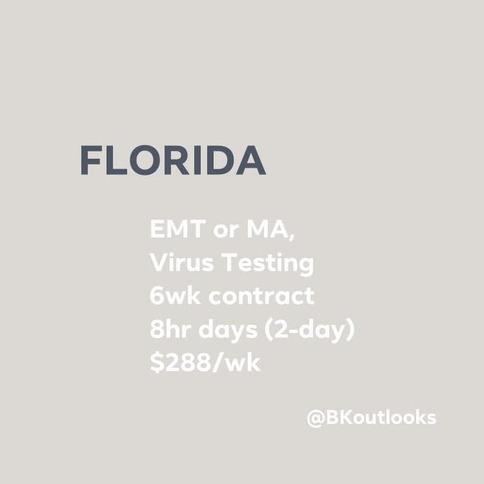 Florida - Contract Hire (EMT or MA, Tester)