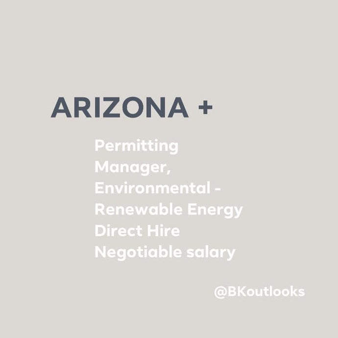 Arizona - Direct Hire (Permitting Manager, Environmental - Renewable Energy)