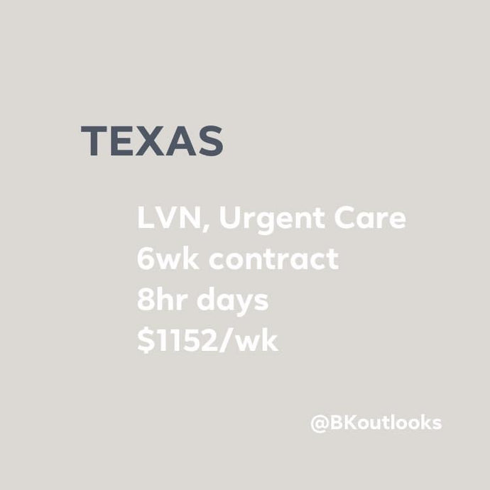 Texas - Local LVN (Urgent Care)
