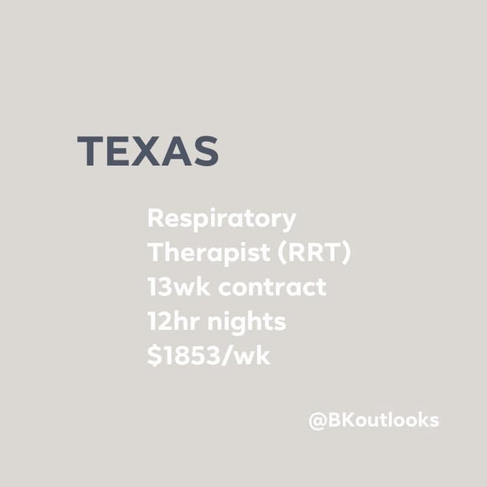 Texas - Travel RRT (Respiratory Therapist)