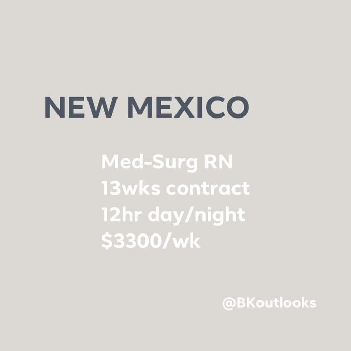 New Mexico - Travel Nurse (Med-Surg RN)
