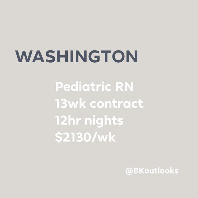 Washington - Travel Nurse (Pediatric RN)