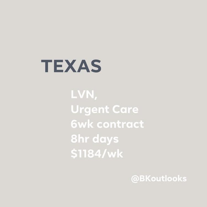 Texas - Contract Hire (LVN, Urgent Care)