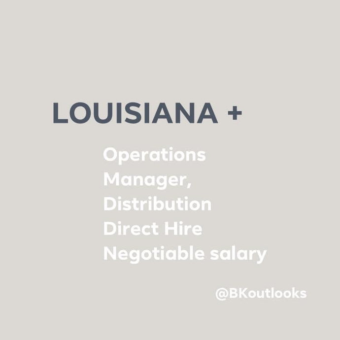 Louisiana - Direct Hire (Operations Manager, Distribution)