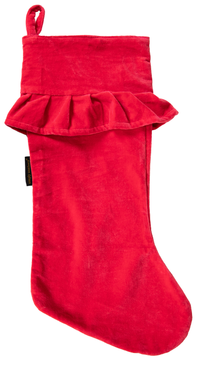 Simply Southern Velvet Stocking, Red