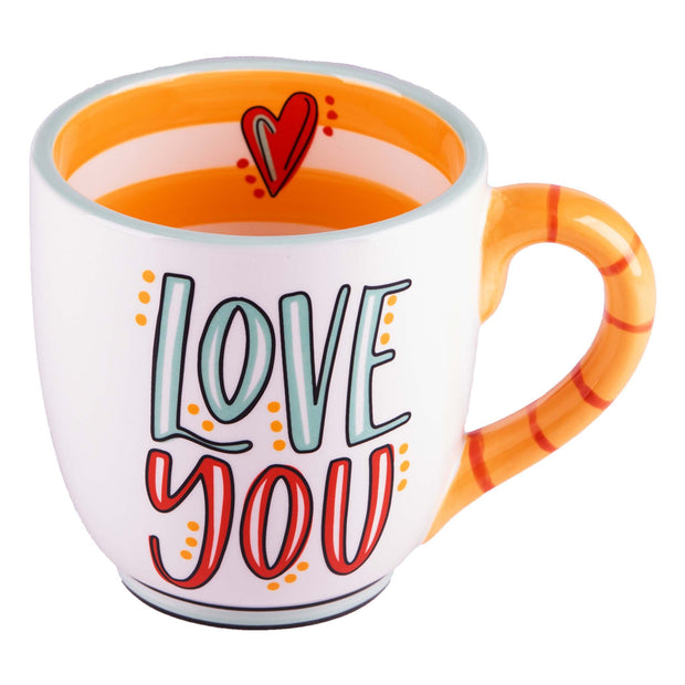 Love You More Heart Mug