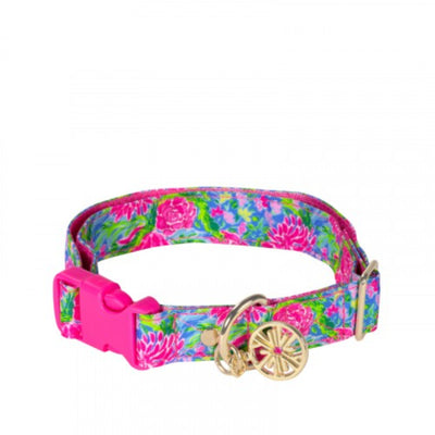 Lilly Pulitzer Dog Collar, Bunny Business M/L