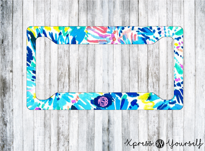 Dive In Lilly Inspired License Plate Frame