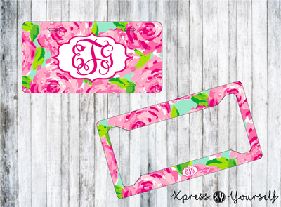 First Impressions Lilly Inspired License Plate and Frame Combo
