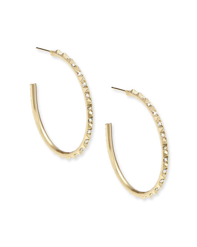 Kendra Scott Veronica Hoop Earrings In Gold