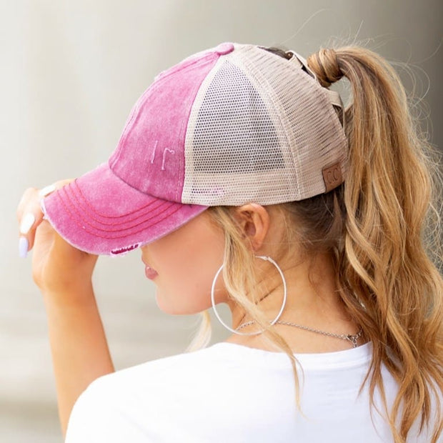 C.C. Criss Cross Ponytail Cap