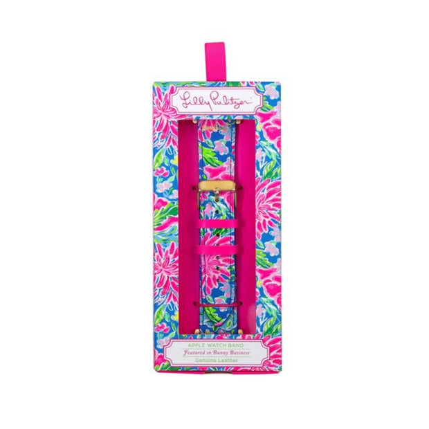 Lilly Pulitzer Watch Band, Bunny Business