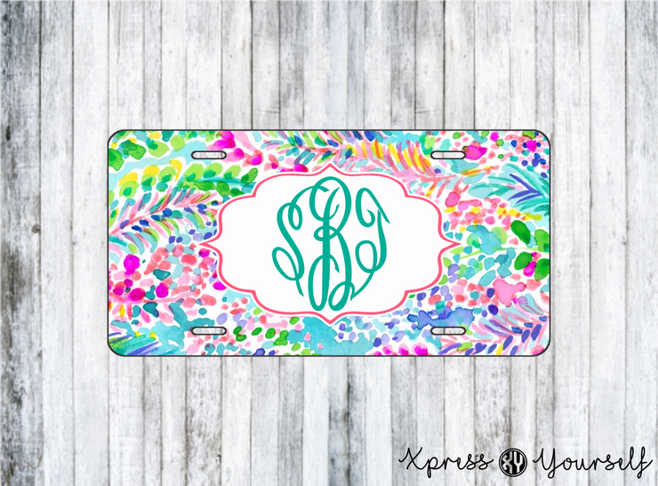 Catch the Wave Lilly Inspired License Plate