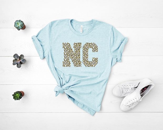 Leopard North Carolina Graphic Tee