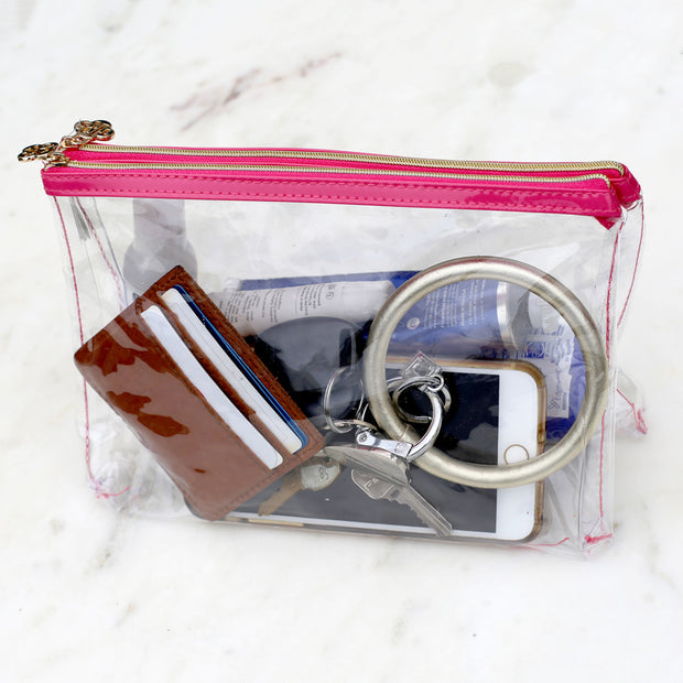 Double Zip Pouch Clear Organizer