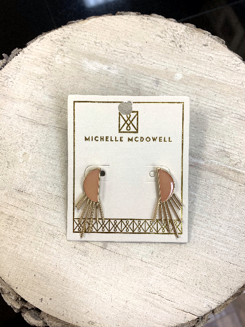 Michelle Mcdowell Everly Earrings Coral