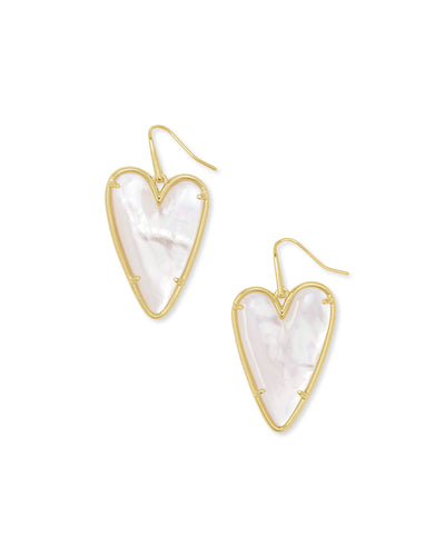 Kendra Scott Ansley Drop Earrings Gold Ivory MOP