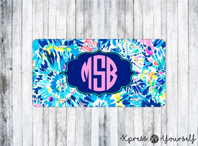 Dive In Lilly Inspired License Plate