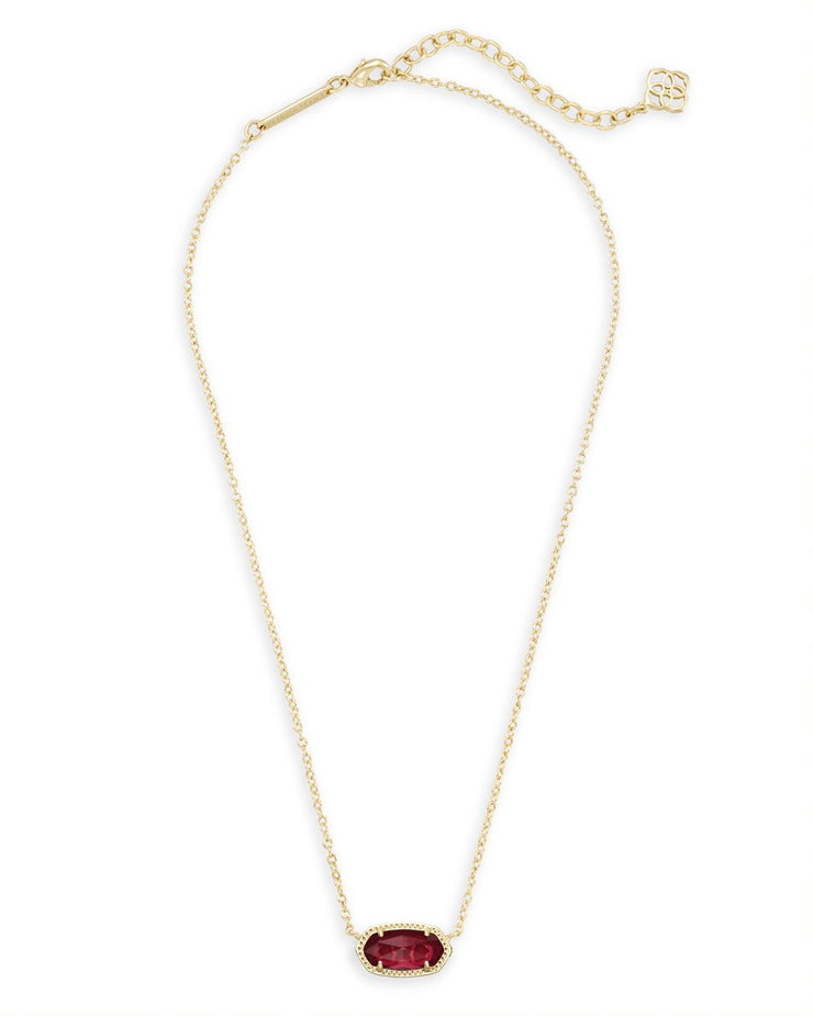 Kendra Scott Elisa Gold Pendant Necklace In Berry