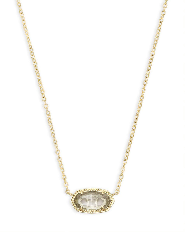 Kendra Scott Elisa Gold Pendant Necklace In Clear Crystal