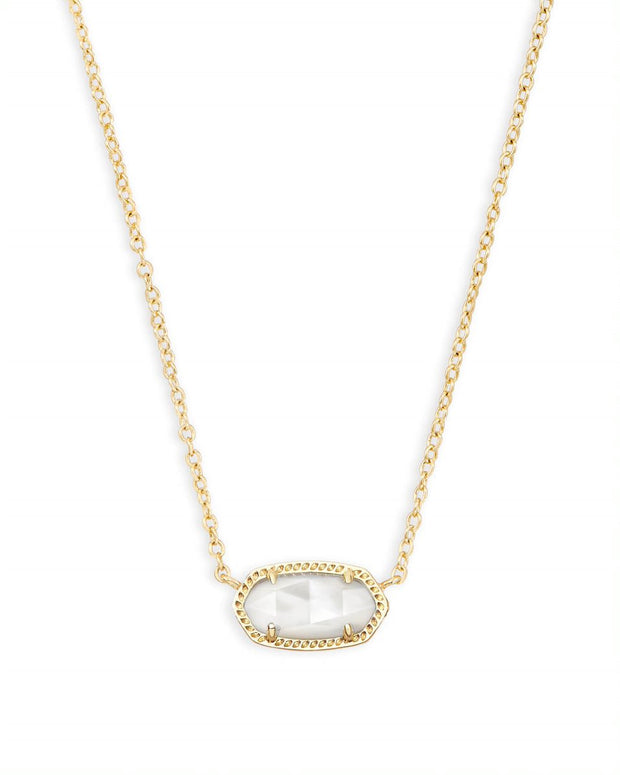 Kendra Scott Elisa Gold Pendant Necklace In Ivory Pearl