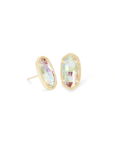 Kendra Scott Ellie Gold Stud Earrings In Dichroic Glass