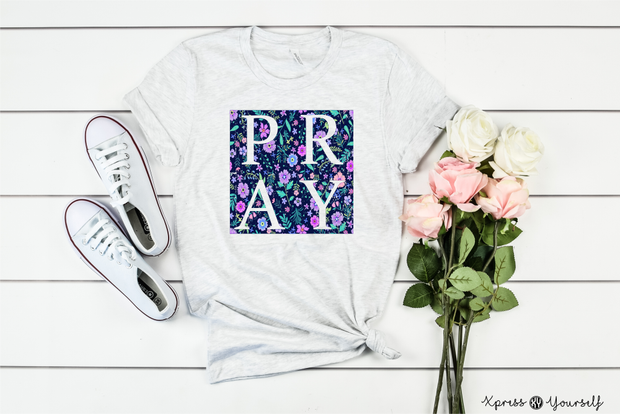 Floral Pray Graphic Tee