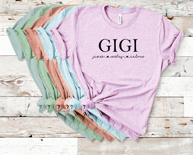 Custom Gigi Crew Graphic Tee