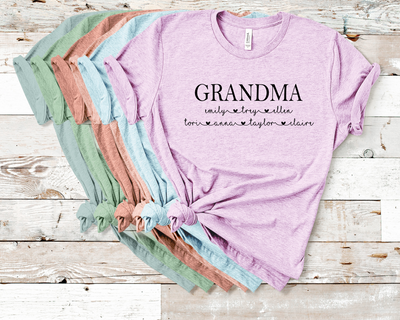 Custom Grandma Crew Graphic Tee
