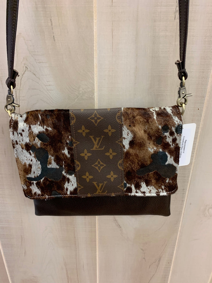 Repurposed LV Crossbody Bag