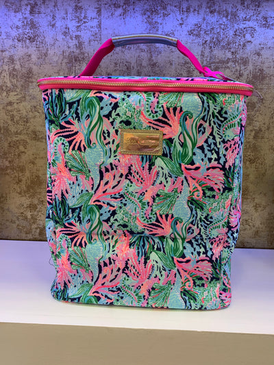 Lilly Pullitzer Wine Carrier, Bringing Mermaid Back