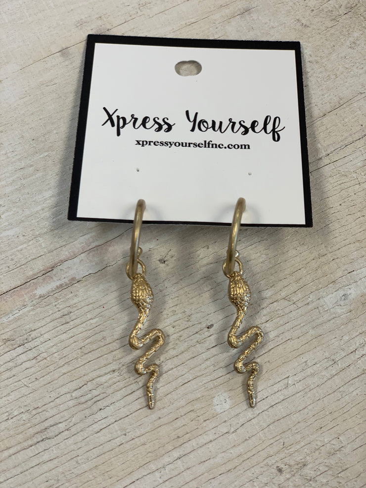Gold Medusa Earrings