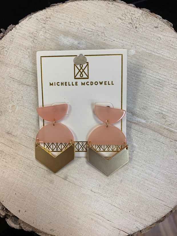 Michelle Mcdowell Pia Earrings coral