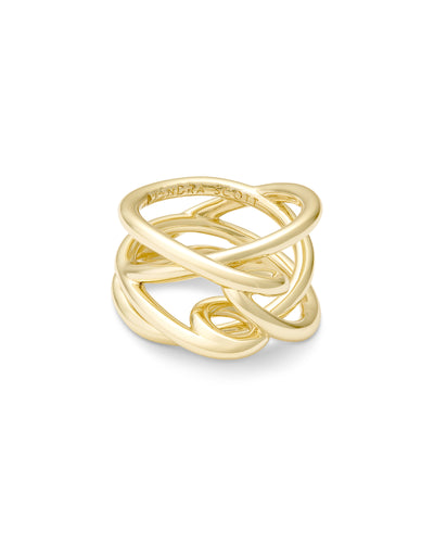 Kendra Scott Myles Band Ring In Gold