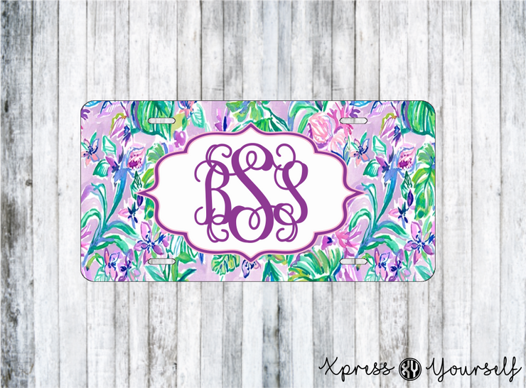Mermaid in the Shade Lilly Inspired License Plate
