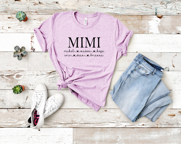 Custom Mimi Crew Graphic Tee