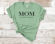 Custom Mom Crew Graphic Tee