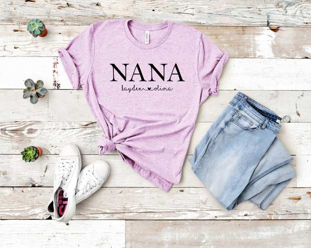 Custom Nana Crew Graphic Tee